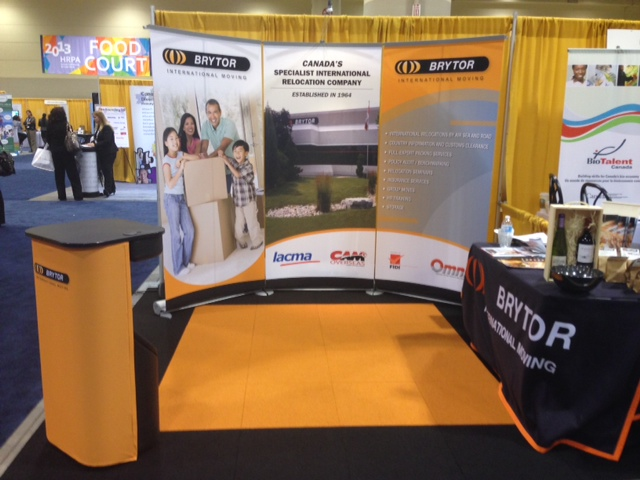 Trade Show Booth Visitors : Our trade show booth brytor international moving